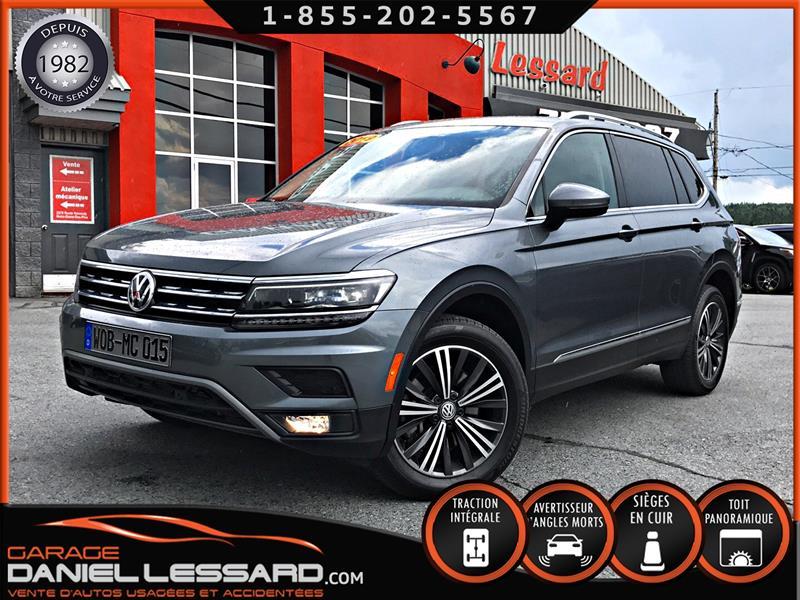 Volkswagen Tiguan 2019 HIGHLINE 4MOTION, TOIT PANO, CUIR, BAS KM, FENDER+ #90245