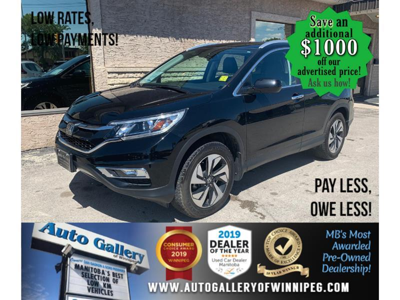 2015 Honda CR-V Touring *Accident Free/AWD/Navi/B.tooth/Lthr/Roof #24134