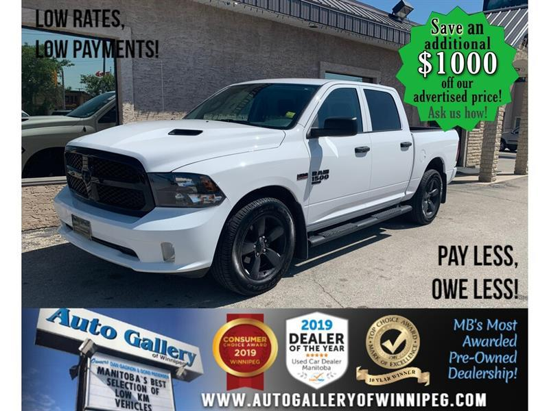 2019 Ram 1500 Classic Express 4x4 Crew Cab ONLY 18,057 KMS ! JUST IN ! #24410