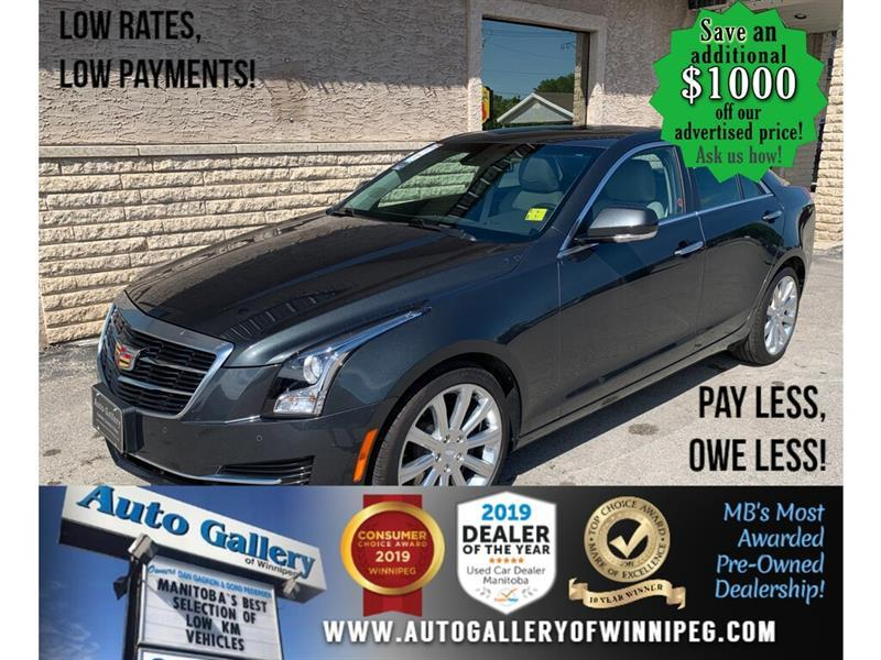 2015 Cadillac ATS Luxury *1 Owner/AWD/Navi/B.tooth/Htd Lthr/Roof #24128