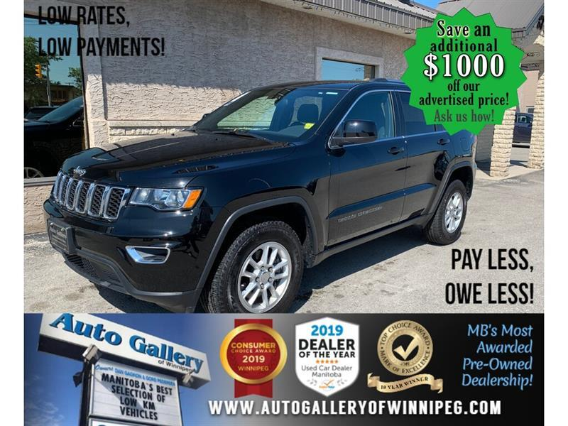 2019 Jeep Grand Cherokee Laredo 4x4 ONLY 1,798 KMS/Brand new cond ! SAVE #24389