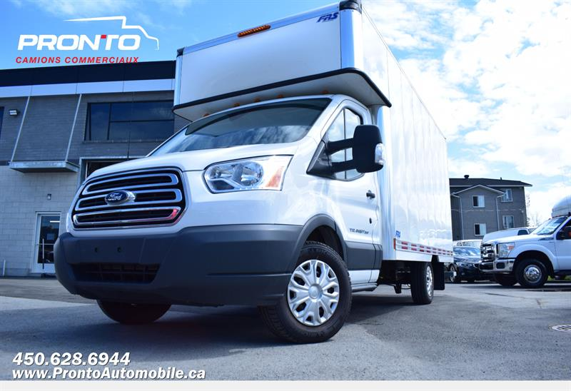 Ford Transit Chassis Cab 2015 T-350 ** Cube 14 pieds Deck** **Bas Kilo** #1304