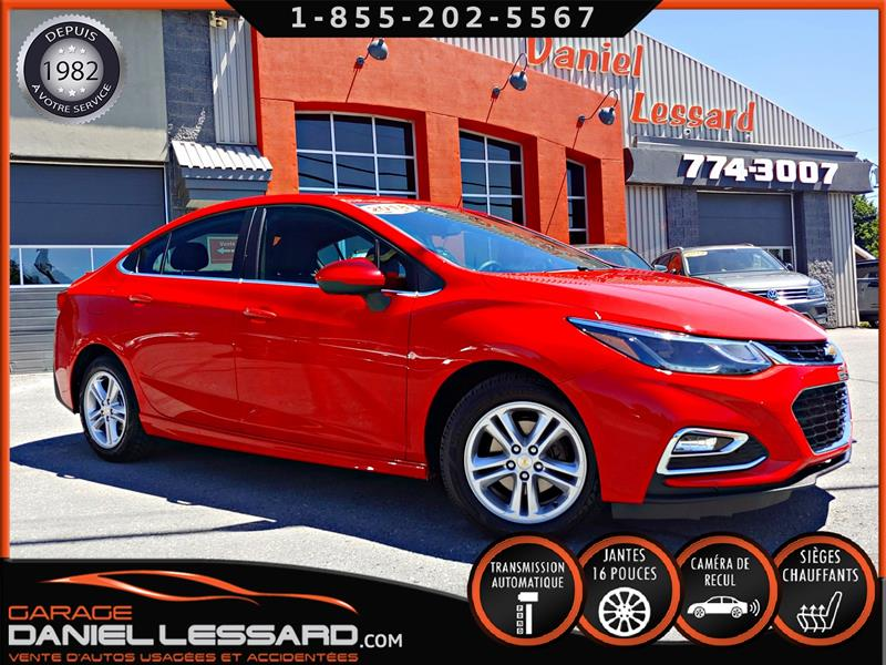 Chevrolet Cruze 2018 LT RS SEDAN AUTO, BAS KM, BANCS CHAUFFANTS,+++ #80340