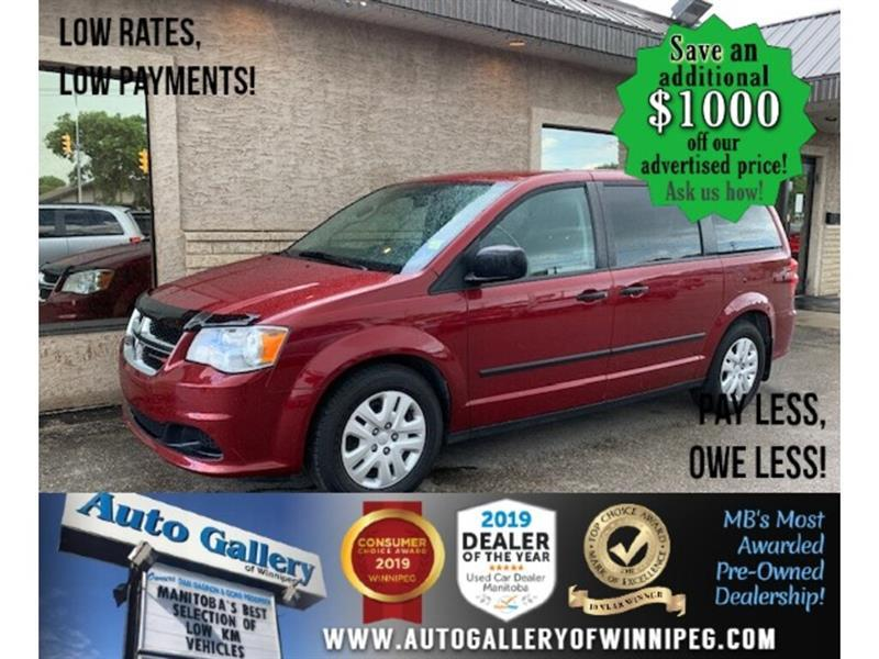 2016 Dodge Grand Caravan 4dr Wgn Canada Value Package #24443