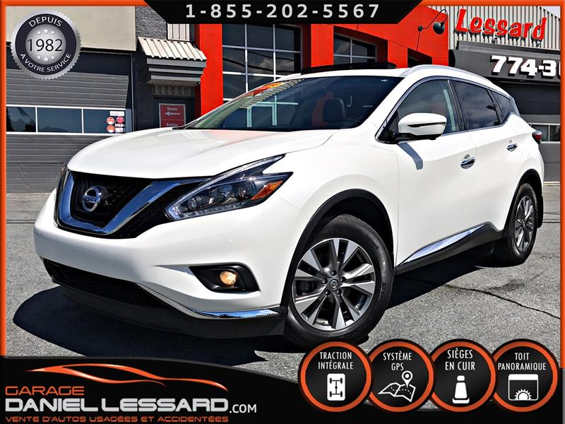 Nissan Murano 2018 AWD SL, TOIT PANO, BLANC PERLE, BAS KILO!!! #80372