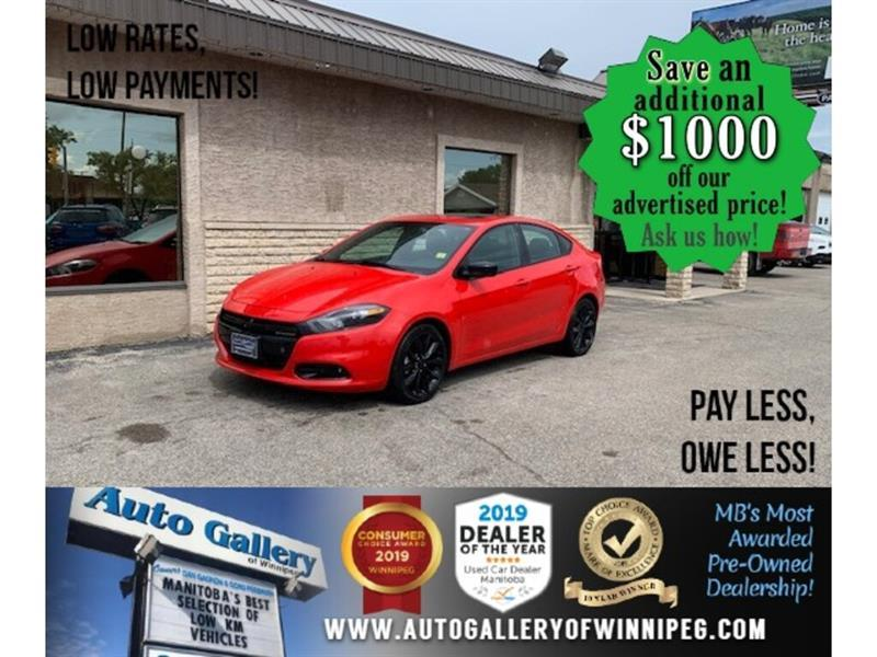 2016 Dodge Dart SXT Sport* AT/B.tooth/B.cam/Roof/Alloys #24289A