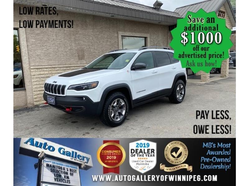 2019 Jeep Cherokee Trailhawk* 4x4/Nav/htd seats/V6 #24432b