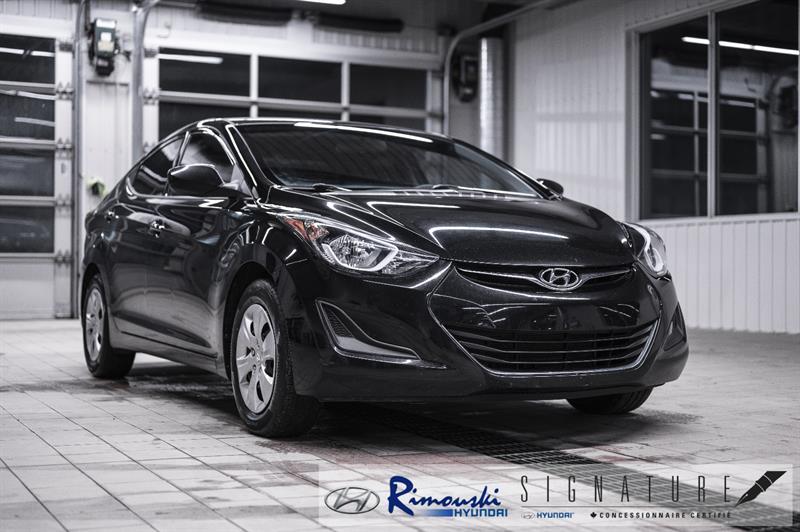 Hyundai Elantra L chez Rimouski Hyundai 2016