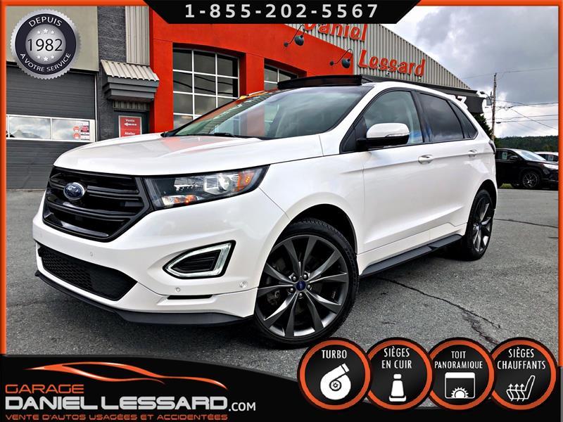 Ford EDGE 2018 SPORT AWD 2.7 L, TOIT PANO, CUIRSUÈDE VENTILÉ, GPS #80424