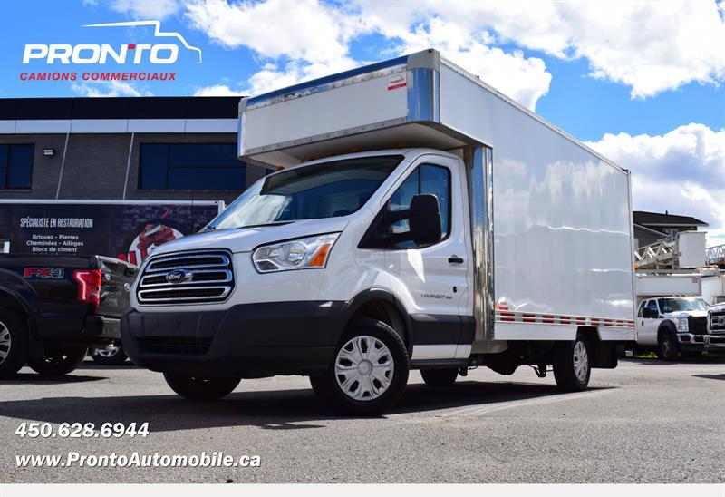 2018 Ford Transit Cutaway T-350 ** Cube 14 pieds Deck** **Bas Kilo** #PP1360
