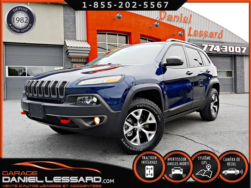 Jeep Cherokee 2018 V6 3.2L, CUIR/TISSUS CHAUFFANT, 4X4, GPS, CAM RECU #80394