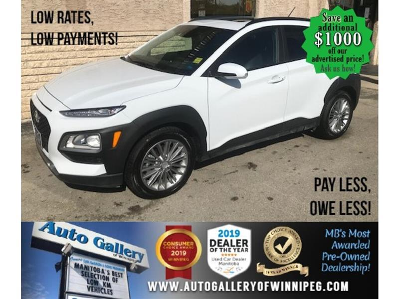 2020 Hyundai Kona Luxury* Awd/Roof/Htd seats #24591