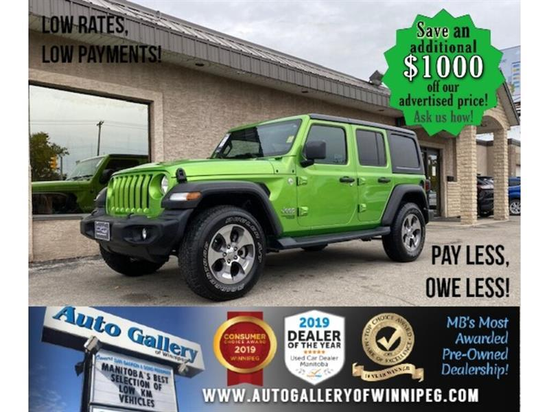 2019 Jeep Wrangler Unlimited Sport* 4x4/8spd/Htd seats #24597