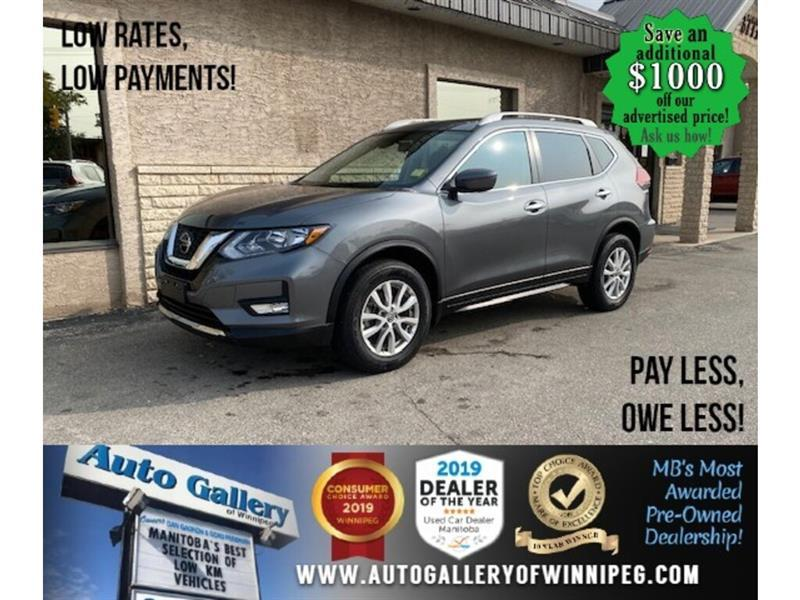 2019 Nissan Rogue SV* Awd/B.cam/B.tooth/Htd seats #24576