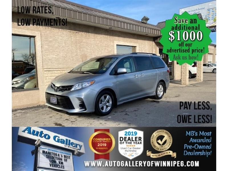 2020 Toyota Sienna LE* 8-pass/B.tooth/B.cam #24614