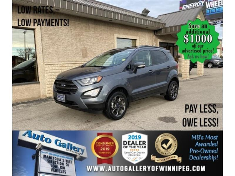 2018 Ford EcoSport SES* LOW KMS/AWD/Sunroof/Navigation/HEATED SEATS #24667
