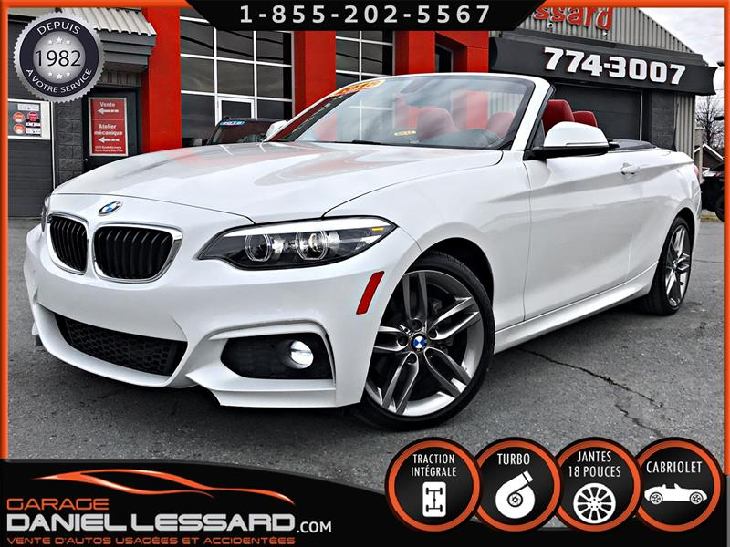 BMW 2 Series 2018 230i XDRIVE M PACKAGE CABRIOLET, CUIR ROUGE  #80590