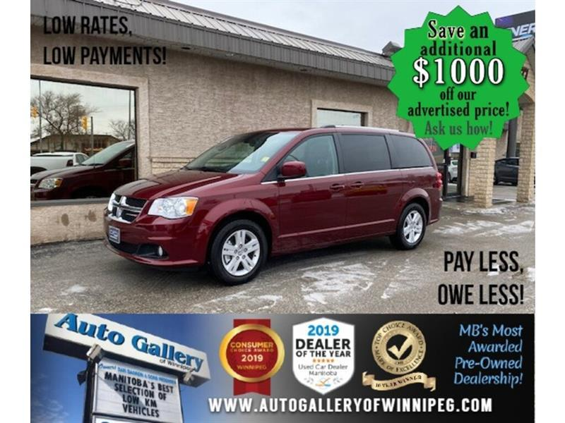 2020 Dodge Grand Caravan Crew Plus* LOW KMS/STOW & GO/DVD/NAVIGATION #24682