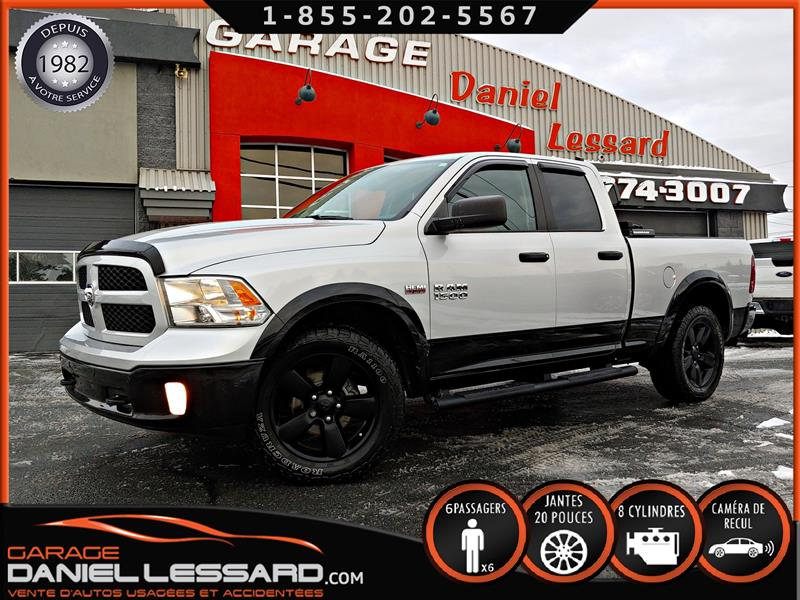 Dodge Ram 1500 2017 OUTDOORSMAN, HEMI 5.7 L,  QUAD 6.4'  CAM RECUL #70522