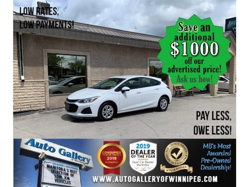 2019 Chevrolet Cruze LS* Low Kilometers/Reverse Camera/APPLE CARPLAY #24461