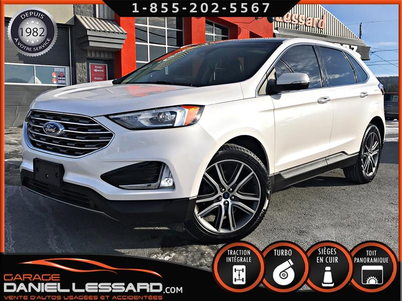 Ford EDGE 2019 TITANIUM AWD, 26028km!!!, CUIR, TOIT PANORAMIQUE!! #90622