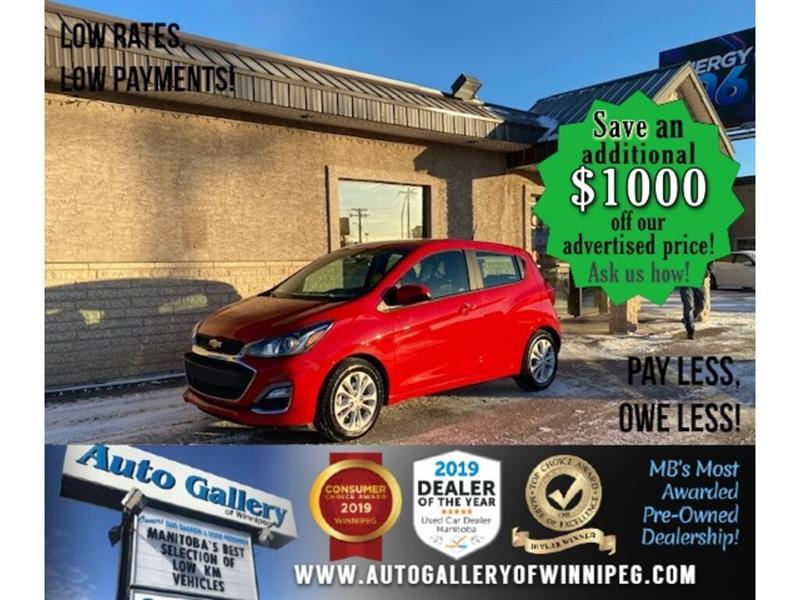 2019 Chevrolet Spark 1LT* Hatchback/Apple Car Play/Reverse Camera #24706