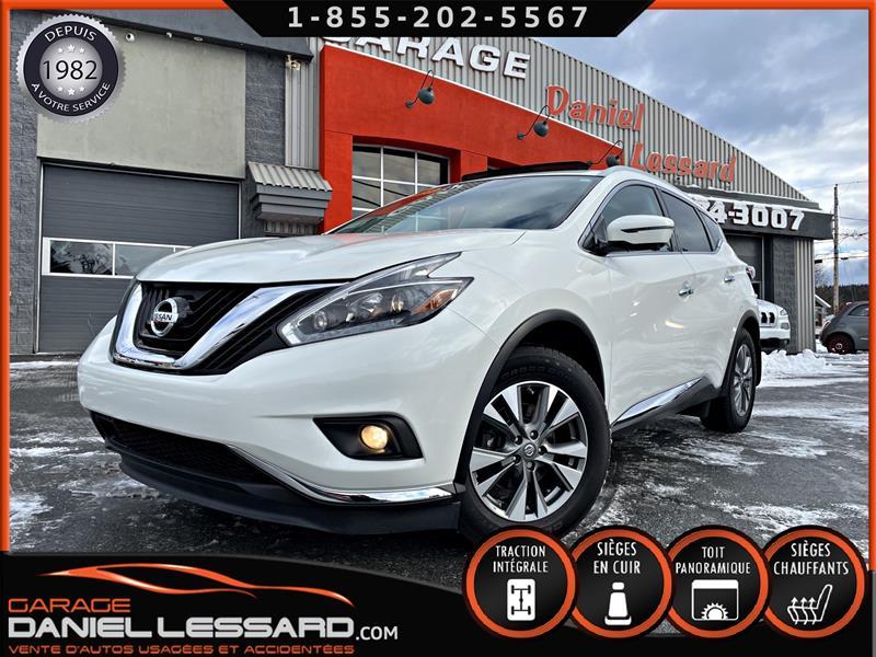 Nissan Murano 2018 ** 31.965 KM** SL AWD, TOIT PANO, CUIR,BLANC PERLE #80372