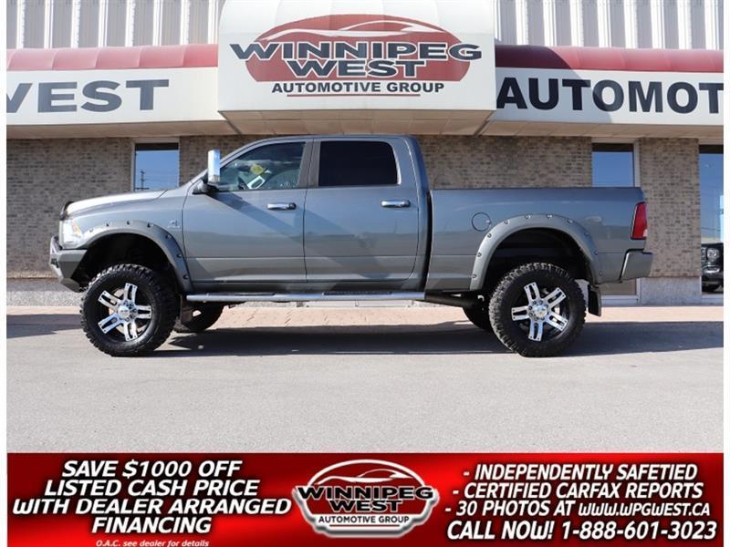 2012 Dodge Ram 3500 BIG LIFTED CUSTOM LIMITED EDITION CUMMINS 4X4 #W5612A