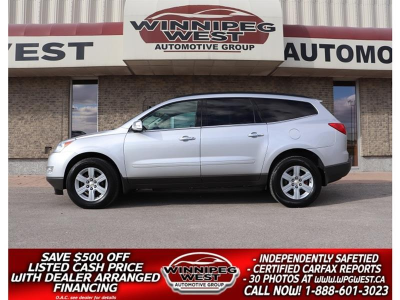 2012 Chevrolet Traverse LT2 HTD LEATHER, 7 PASS, TWIN SUNROOFS, LIKE NEW!! #GNW5637