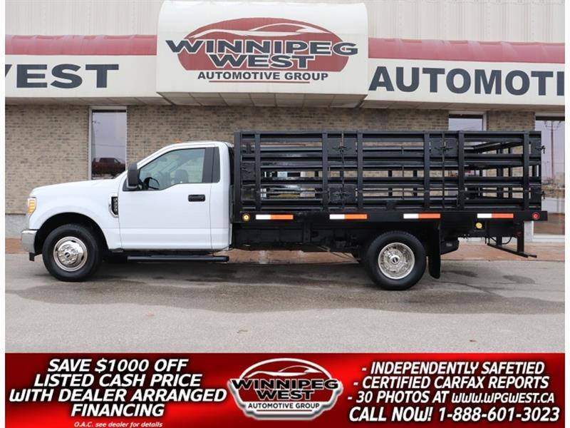2017 Ford F-350 6.2L V8, DUAL REAR WHEEL, 13FT DECK/STAKE BOX #GW5677