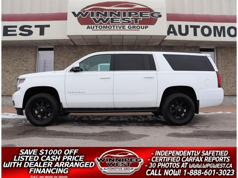 2015 Chevrolet Suburban LT2 4X4, LEATHER, ROOF, 8 PASS, FLAWLESS & SHARP #GNW5694