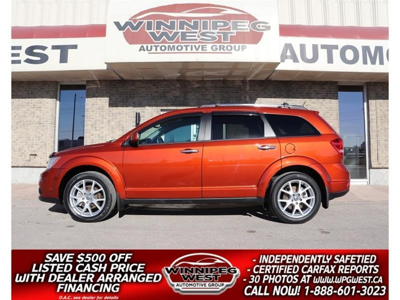2013 Dodge Journey R/T AWD, HTD LEATHER, LOADED FLAWLESS LOCAL TRADE #GNW5724