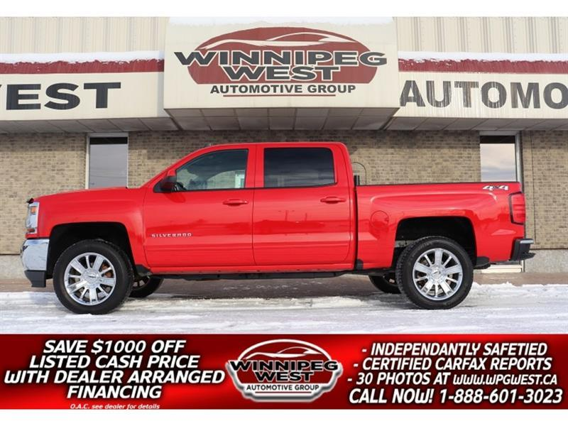 2018 Chevrolet Silverado 1500 LT2 LIFTED CREW 5.3L, HTD SEATS, LOADED, SRV HIST! #GWL5723