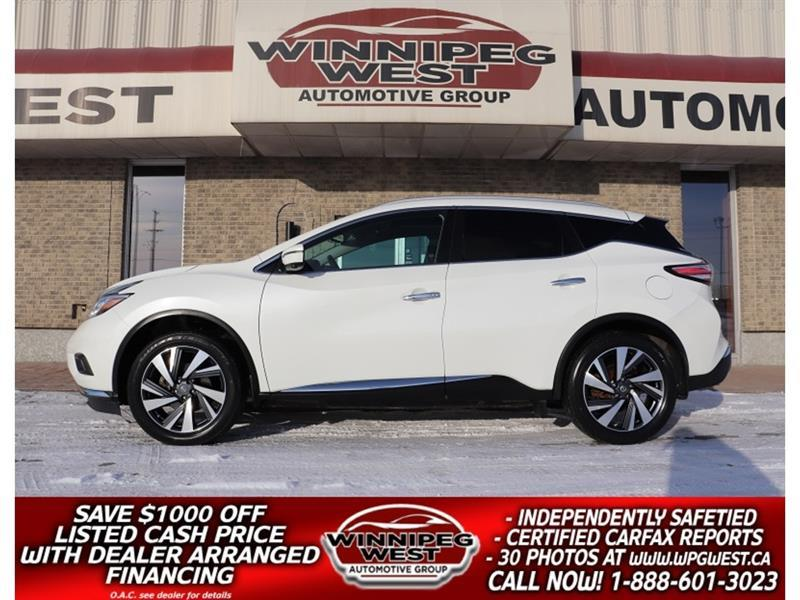 2016 Nissan Murano PLATINUM EDITION AWD LEATHER, ROOF, NAV BLIND SPOT #GIW5725