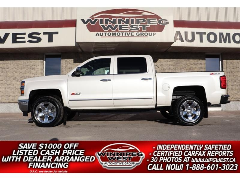 2015 Chevrolet Silverado 1500 LTZ Z71 CREW 420HP 6.2L V8 4X4, ALL OPTIONS, SHARP #GW5749