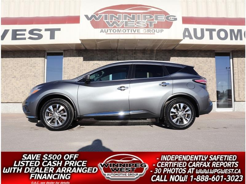2016 Nissan Murano SL EDITION AWD, NAV, PAN ROOF, HTD LEATHER & MORE #GIW5748