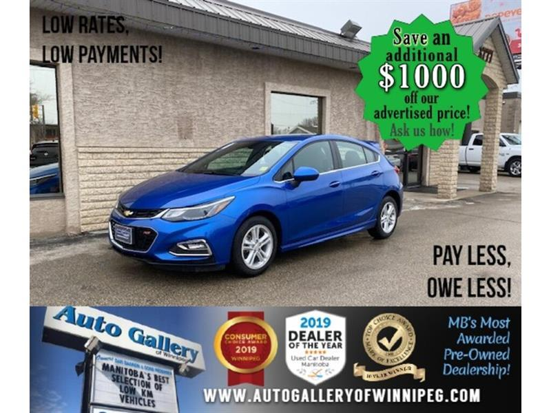 2018 Chevrolet Cruze LT* Hatchback/Bluetooth/HEATED SEATS #24718