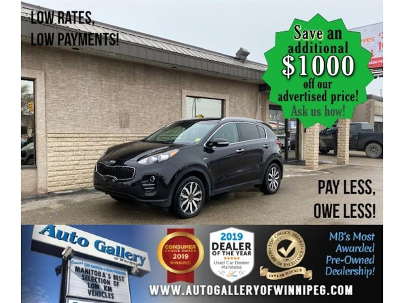 2018 Kia Sportage EX* LOW KM/AWD/Heated seats/Leather/APPLE CAR PLAY #24727