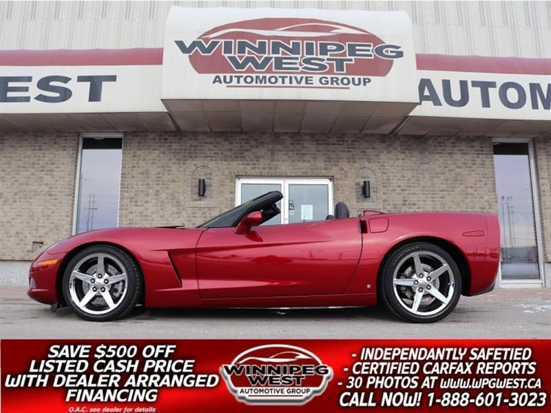 2008 Chevrolet Corvette SUPERCHARGED 600+HP 3LT, PWR TOP, FLAWLESS & SHARP #CW5809