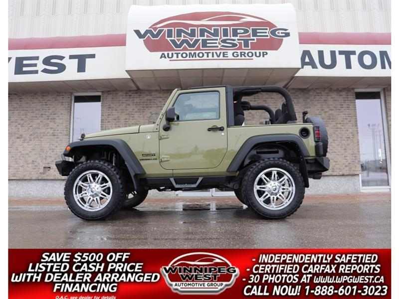 2013 Jeep Wrangler LIFTED SPORT TRAIL RATED V6 4X4, AUTO, GREAT LOOKS #GNLW5801