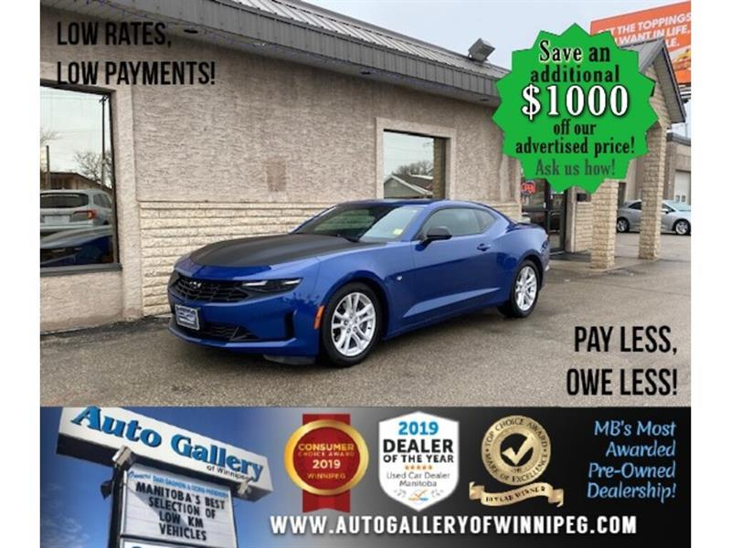 2019 Chevrolet Camaro 1LT* LOW KMS/TURBO/Apple CarPlay/REMOTE START #24610a