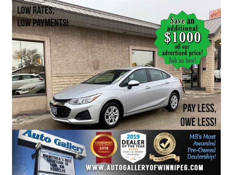 2019 Chevrolet Cruze LS* Low Kilometers/Reverse Camera/APPLE CARPLAY #24717