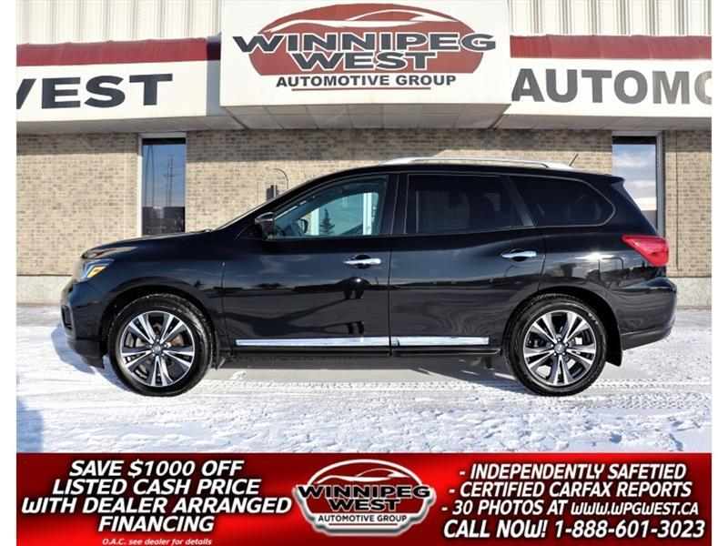 2017 Nissan Pathfinder PLATINUM 4X4, 7 PASS, ALL OPTIONS, FLAWLESS, LOCAL #GIW5819