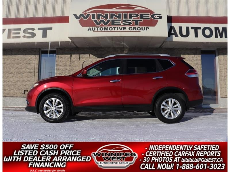 2016 Nissan Rogue SV AWD, WELL EQUIPPED, LOCAL HISTORY,ONLY $129 B/W #GIW5812