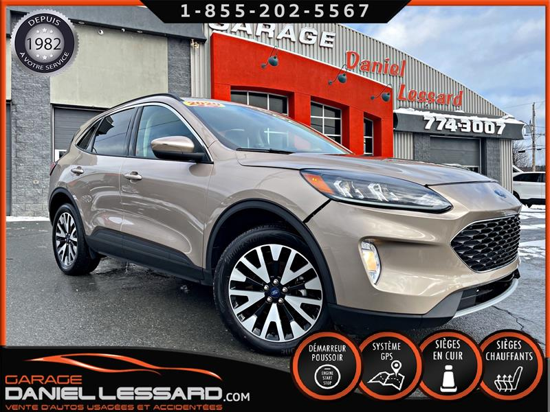 Ford Escape 2020 SEL AWD, CUIR, GPS, ANGLE MORT, CRUSE ADAP  #01046