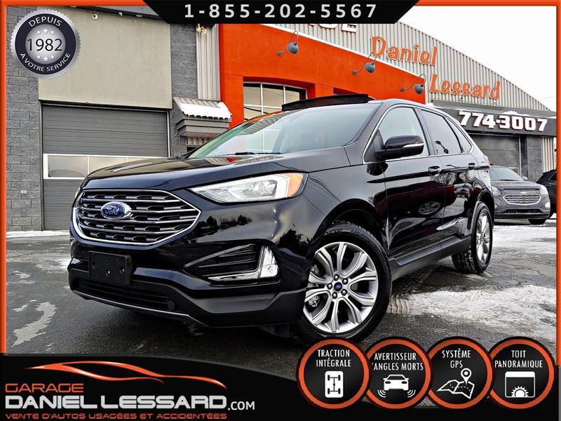 Ford EDGE 2019 TITANIUM AWD, TOIT PANO, CUIR CHAUFFANT, GPS, MAGS #90671