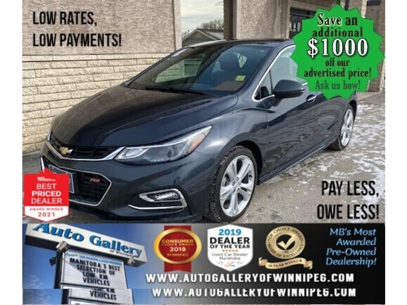2017 Chevrolet Cruze Premier* Leather Int/Apple CARPLAY/REMOTE START #24679