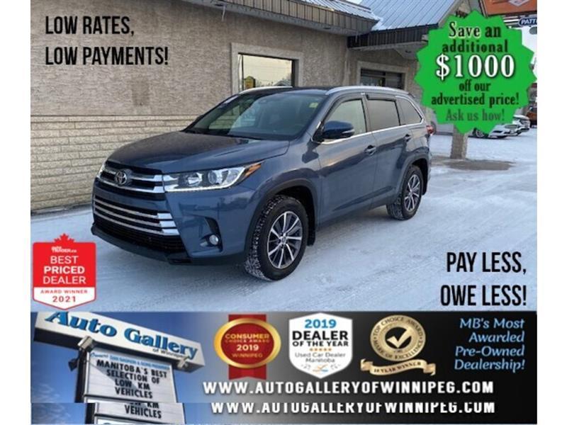 2019 Toyota Highlander XLE* LOW KMS/AWD/7 Passenger/NAV/REMOTE START #24712