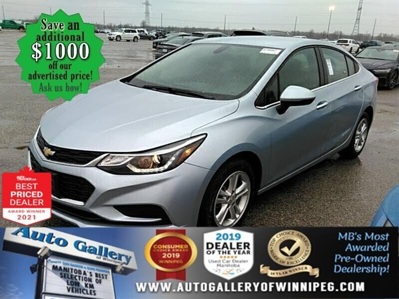 2018 Chevrolet Cruze LT* Reverse Camera/Heated Seats/ LOW KILOMETRES #24794