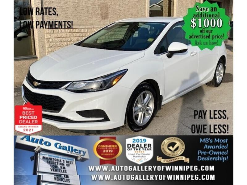 2017 Chevrolet Cruze LT* Bluetooth/Reverse Camera/LOW KILOMETRES #24800